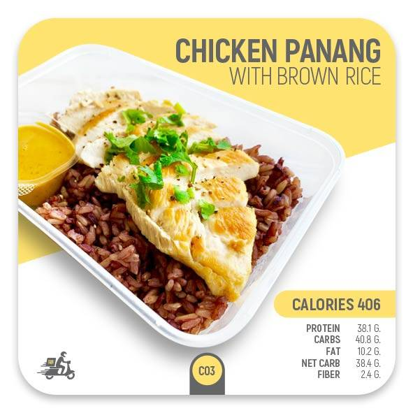 Chicken Panang with Brown Rice – C03