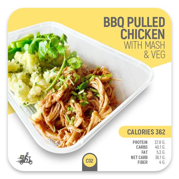 BBQ Pulled Chicken with Mash – C02