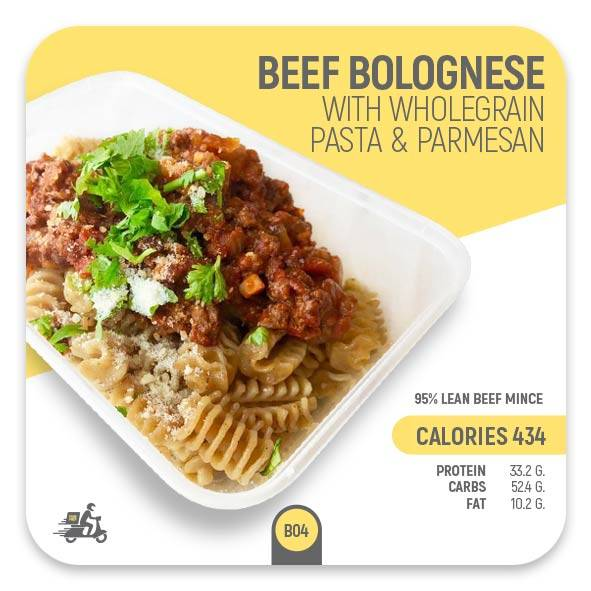 Beef Bolognese with Wholegrain Pasta – B04